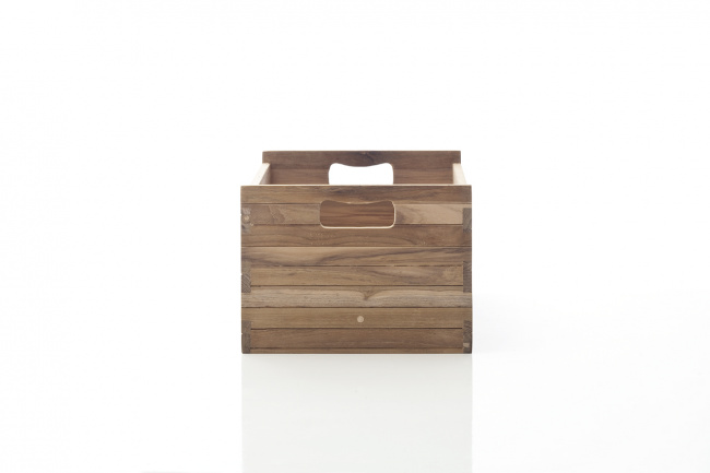 Bordeaux Teak Crate Medium für B128, B129, B181, B189 (2er Set)