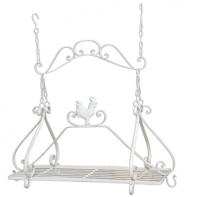 landhaus k chenregal regal zum aufh ngen 40079w deko. Black Bedroom Furniture Sets. Home Design Ideas