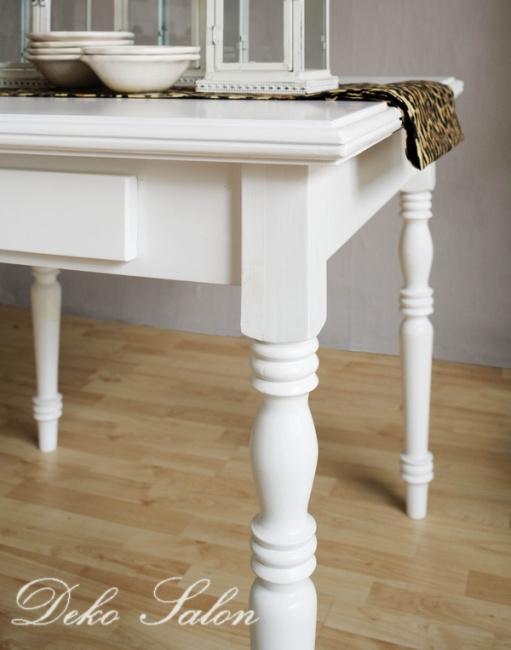 ... » Tisch » Traum Esstisch Tisch Landhaus Pinie weiß Art 559