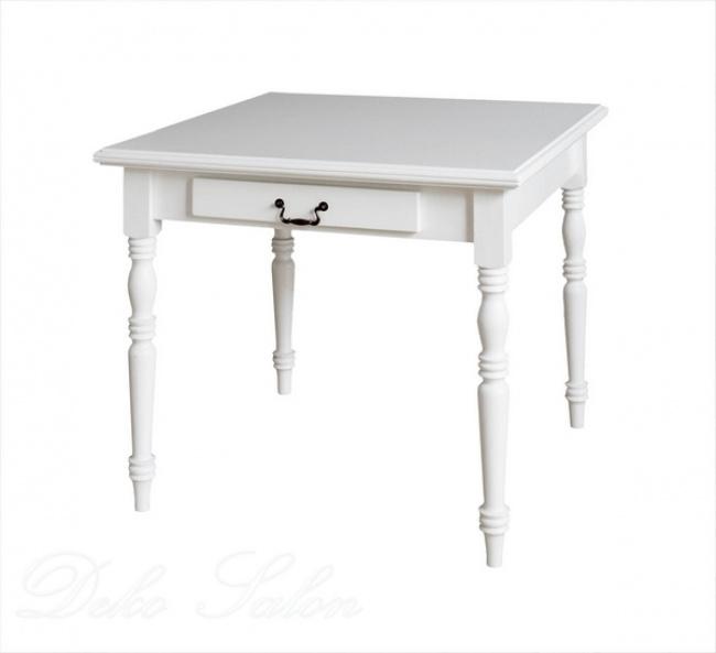 Traum Esstisch Tisch Landhaus Pinie weiß Art 559  Deko ...