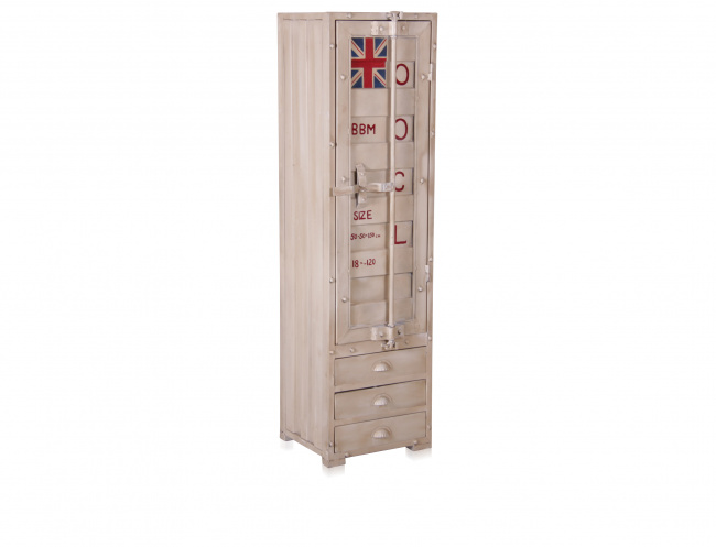 containerschrank schmal industrie look deko salon online. Black Bedroom Furniture Sets. Home Design Ideas