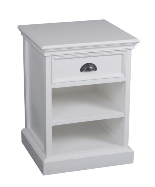 kleines halifax schr nkchen nachttisch weiss novasolo deko salon online shop. Black Bedroom Furniture Sets. Home Design Ideas