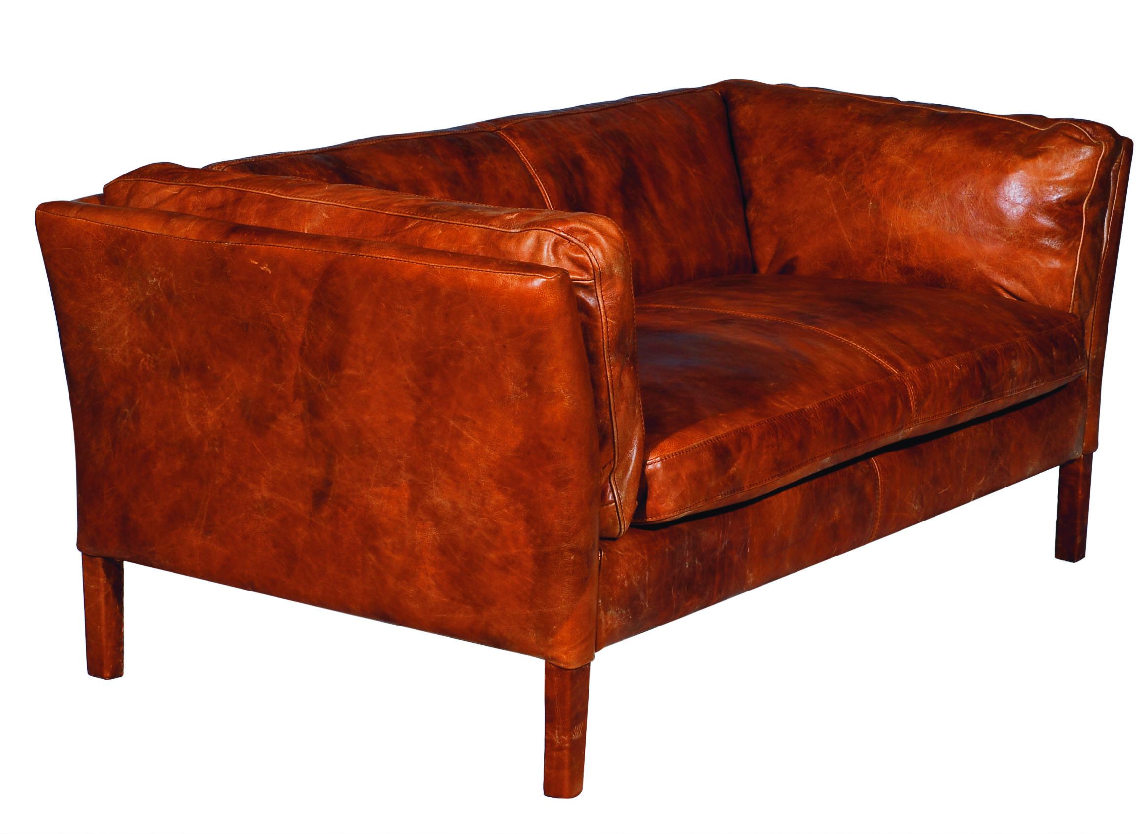 Leder Club Sofa 2-Sitzer REGGIO  Deko-Salon Online Shop