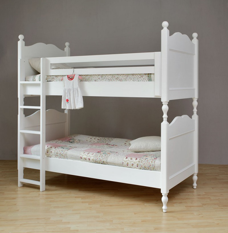 landhaus etagenbett weiss kinderbett art 512 deko salon online shop. Black Bedroom Furniture Sets. Home Design Ideas