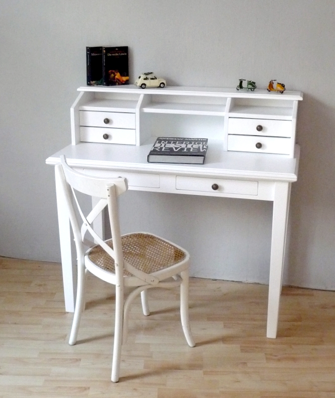 Schreibtisch weiß vintage  Sekretär Schreibtisch weiss Landhaus Art 765 | Deko-Salon Online Shop