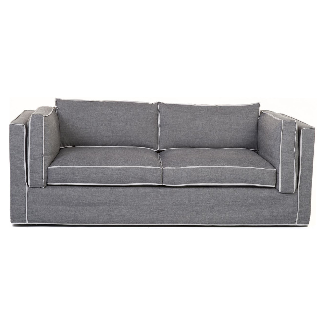 hussen sofa fontana grey mit kedernaht deko salon online. Black Bedroom Furniture Sets. Home Design Ideas
