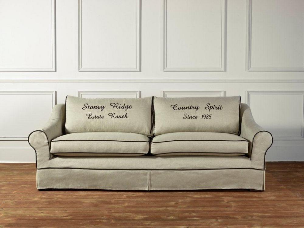 lhussen sofa bakersfield natural + black   deko-salon online shop, Hause deko