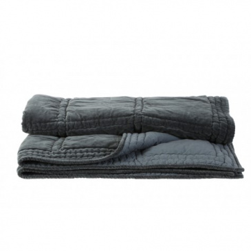 Plaid Velvet THROW von Light & Living GRAU GRÜN 130x180 cm
