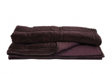 Plaid Velvet THROW von Light & Living AUBERGINE 130x180 cm